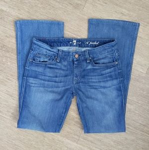 7FAM flare jeans A pocket